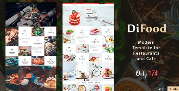 Restaurant & Cafe One Page HTML5 Template